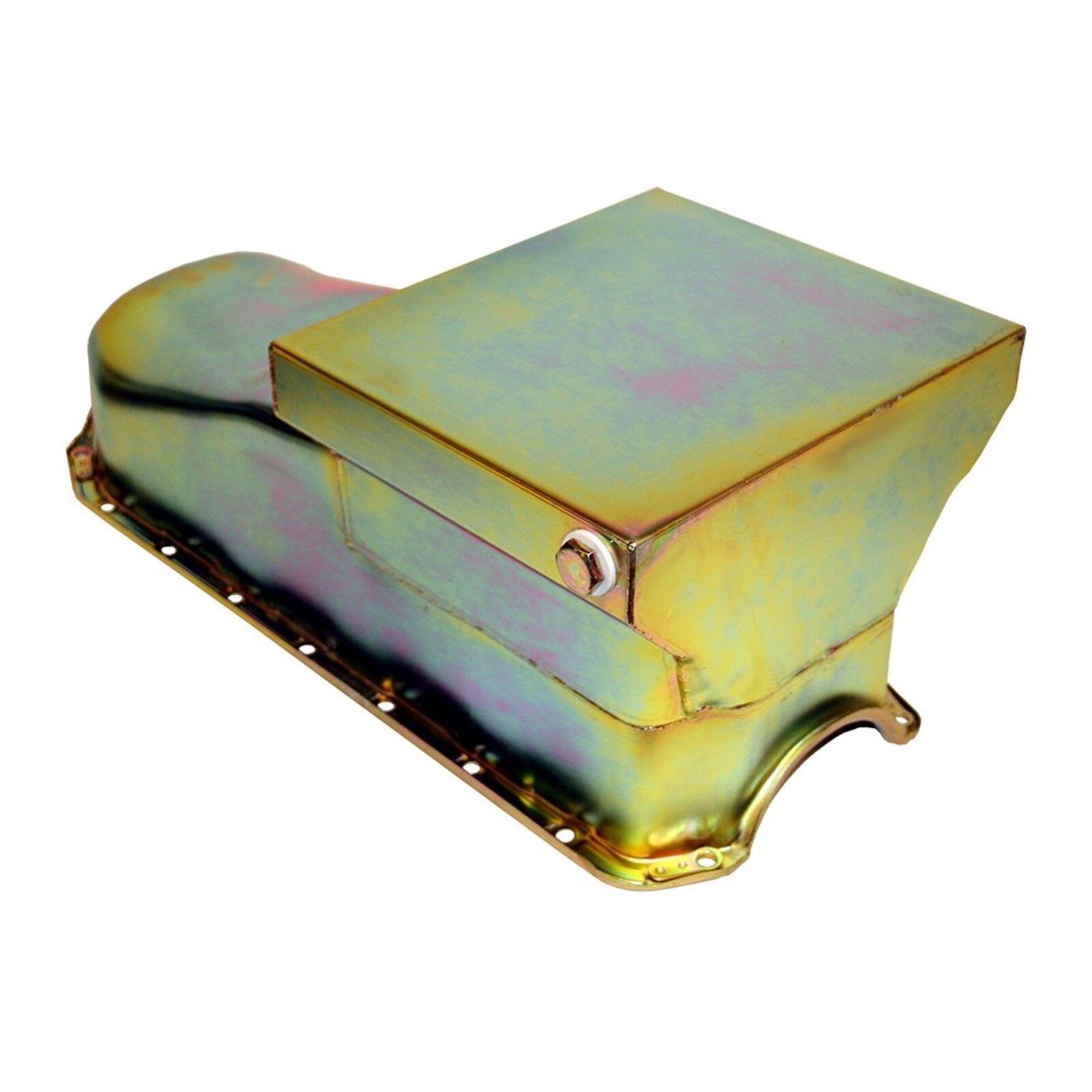Zinc Drag Race Style Oil Pan 7qt - 58-79 SBC Chevy 283 327 350 400 Small Block