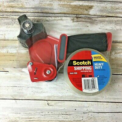Brand New 3m Scotch Shipping Tape Gun Dispenser Heavy Duty 3 1 Roll Tape
