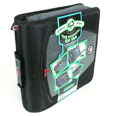 Case-it The Mighty Zip Tab 3-ring Binder 3 Capacity Black Grey For School D-146