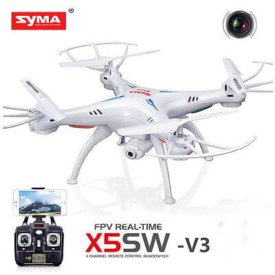 US Syma X5SW-V3 Wifi FPV Explorers 2.4Ghz 4CH RC Quadcopter Drone with HD Camera