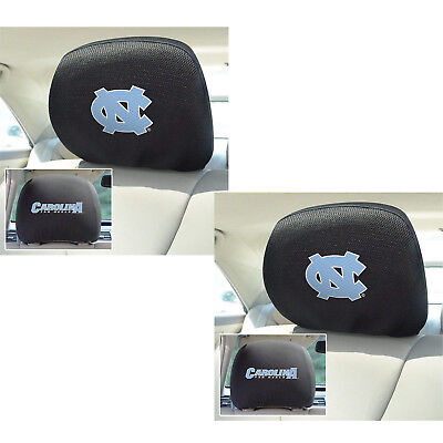 2pc NCAA North Carolina Tar Heels Automotive Gear Car Truck Headrest Covers Set ()