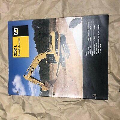 Cat Caterpillar 325 Excavator 325c L Long Reach Brochure Original Antique