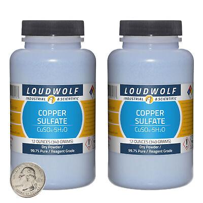 Copper Sulfate 1.5 Pounds 2 Bottles 99.7 Pure Reagent Grade Dry Powder