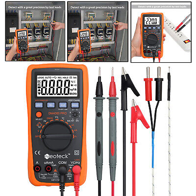 Lcd Auto Range 4000 Digital Multimeter True Rms Acdc Ohm Meter Multi Tester