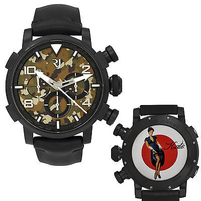 Romain Jerome Pinup DNA WWII Kate Garter Chrono Auto Men Watch RJ.P.CH.002.01