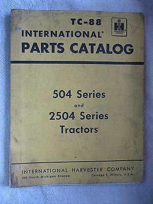 Ih International Harvester Farmall 504 2504 Series Tractor Parts Catalog