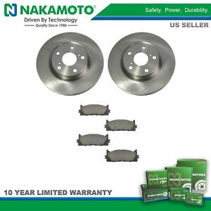 For 07 14 15 16 17 Toyota Camry Avalon Front Ceramic Brake Pad Disc