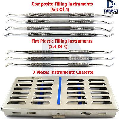 Restorative Composite Tools Plugger Spatula Dental Surgical Instruments Cassette
