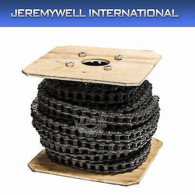 #25 Roller Chain 100 Feet with 10 Connecting Links