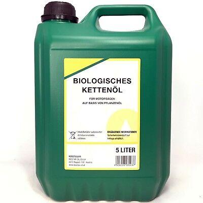 5 Liter BIOSTAR BIO SÄGEKETTENHAFTÖL 100 für alle gängigen