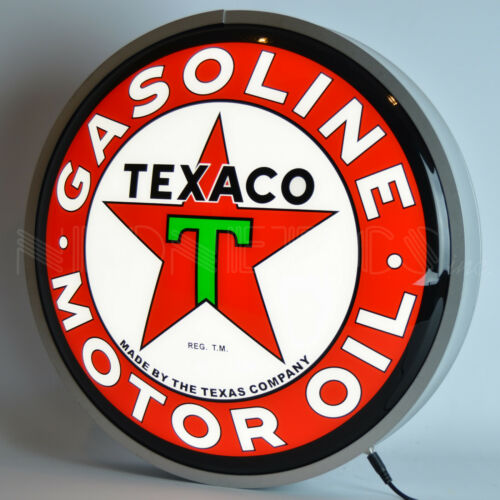 """15"""" Texaco LED sign with Metal rim Gas Gasoline Motor oil wall lamp neon light"""