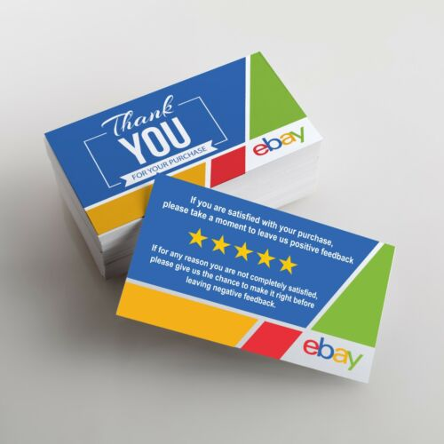 100 Thank Your Cards For Your Purchase eBay Order