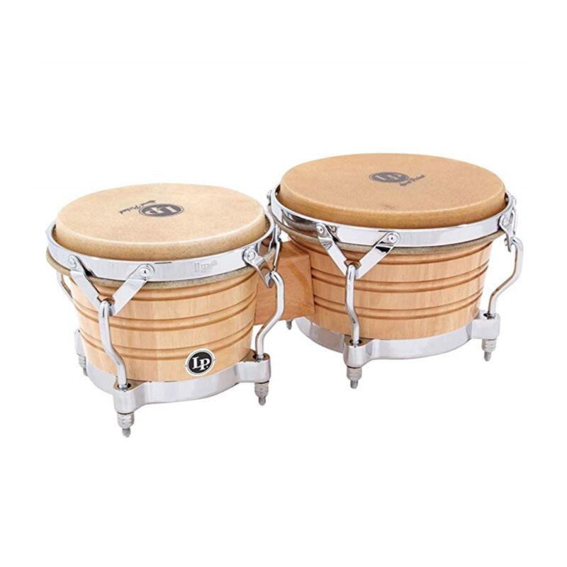Latin Percussion LP Generation II Wood Bongos Chrome, Traditional Rims