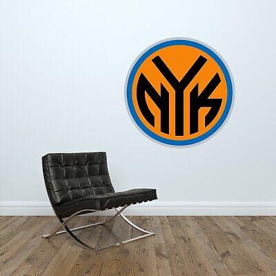 NY Knicks Logo Wall Decal NBA New York Knicks Basketball Decor Vinyl Sticker ()