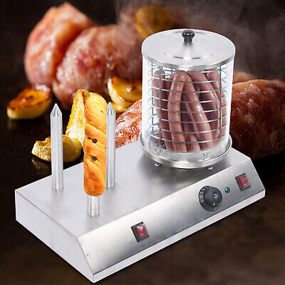 Commercial Hotdogs Steamer Hot Dog Machine Bun Warmer Electric Stainless Steel