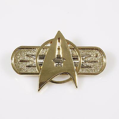 STAR TREK Movie II-VII Uniformabzeichen pin Metall deluxe Ausführung ovp Star Trek Abzeichen