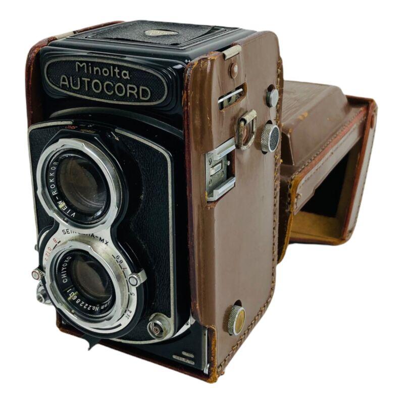 Vintage Minolta Autocord Camera With 1:3.5 f=75mm Chiyoko Rokkor Lens Functions