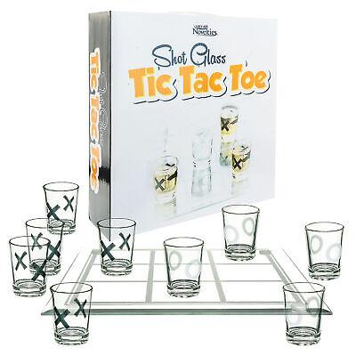 SHOT GLASS TIC TAC TOE Fun Drinking Board Game White Elephant Novelty Gag Gift Barware
