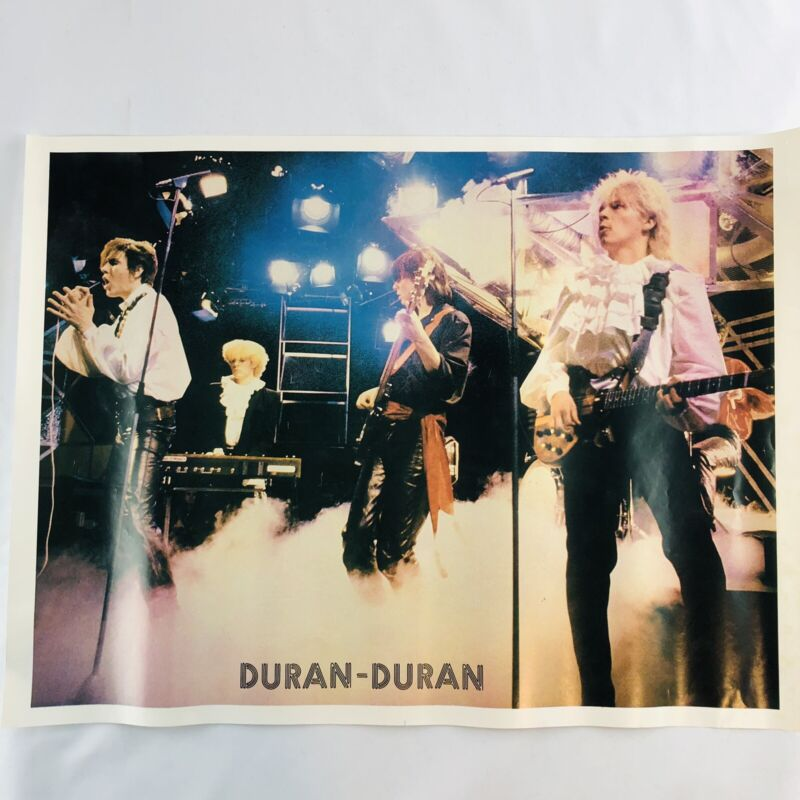 "DURAN DURAN Vintage Original 1980's Poster 18""X23"""