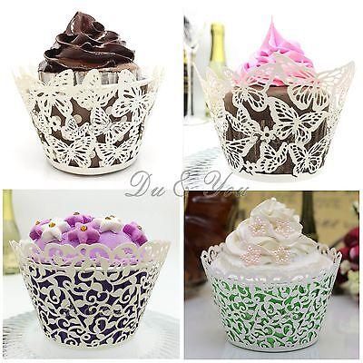 rförmchen Cupcake Wrapper Förmchen Kuchen Verpackung Deko (Muffin-wrapper)