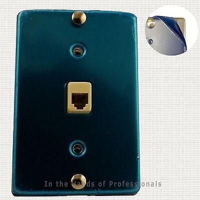 1/ 630A Stainless Steel Wall Phone Jack 4C Mounting Plate w/Screw Terminals