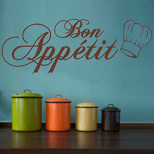 BON APPETIT REMOVABLE Kitchen Dining Room Wall Sticker DIY VINYL DECAL WQ93