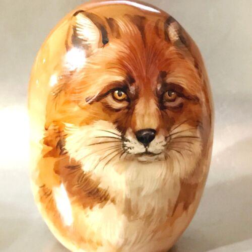 Fox  figurine stone Selenite handmade from Russia