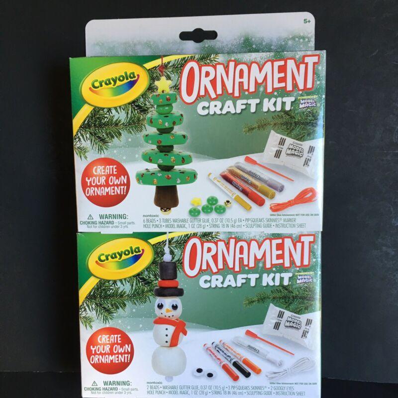 CRAYOLA Ornament Craft Kit Bundle Snowman Christmas Tree Create With Model Magic