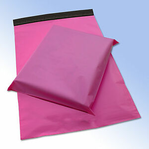 100 Mixed Pack of PINK Plastic Mailing Postage Bags