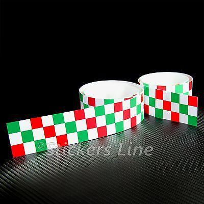 2Pcs Banda Adhesivo Tricolor A Ajedrez CM 120X4 Tira Tablero Adhesivo
