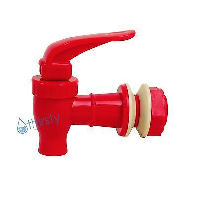 """Replacement Water Faucet Spigot Dispenser 3/4"""" Valve Bottle Jug Crock RED New"""