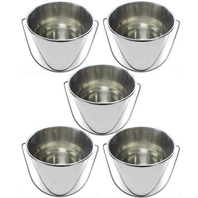12 Litre Stainless Steel Bucket Pail Restaurant Catering Food Hygiene 12L x 5