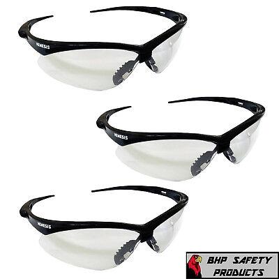 Kleenguard Nemesis Clear Lens Safety Glasses Black Frame 25676 Shooting 3 Pair