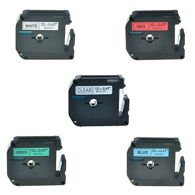 5pk Mk 131 231 431 531 731 Label Tape For Brother P-touch Pt-45m 12mm 12