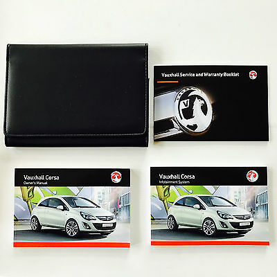 VAUXHALL CORSA D OWNERS MANUAL HANDBOOK PACK + NEW BLANK SERVICE BOOK 2012-2015