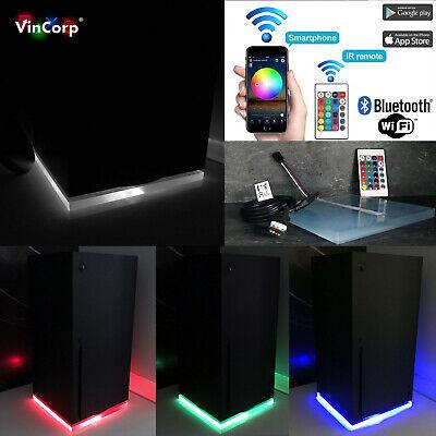 Wifi RGB LED USB Design Unterlage / Ständer Standfuß Acryl für Xbox...