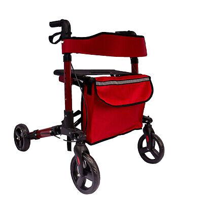 AREBOS Caminador Andador plegable de aluminio con ruedas ligero con frenos 135kg