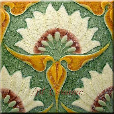 Art  Nouveau Ceramic decorative wall tile 6 X 6 Inches #283