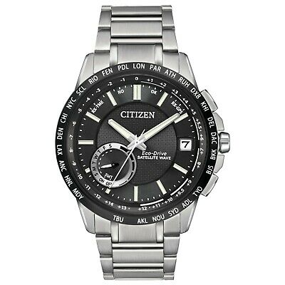 Citizen Eco-Drive Men's Satellite Wave World Time GPS 44mm Watch CC3005-85E