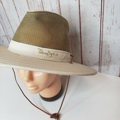 Panama Jack Mens Small Wide Brim Bangora Sun Breathable Hat