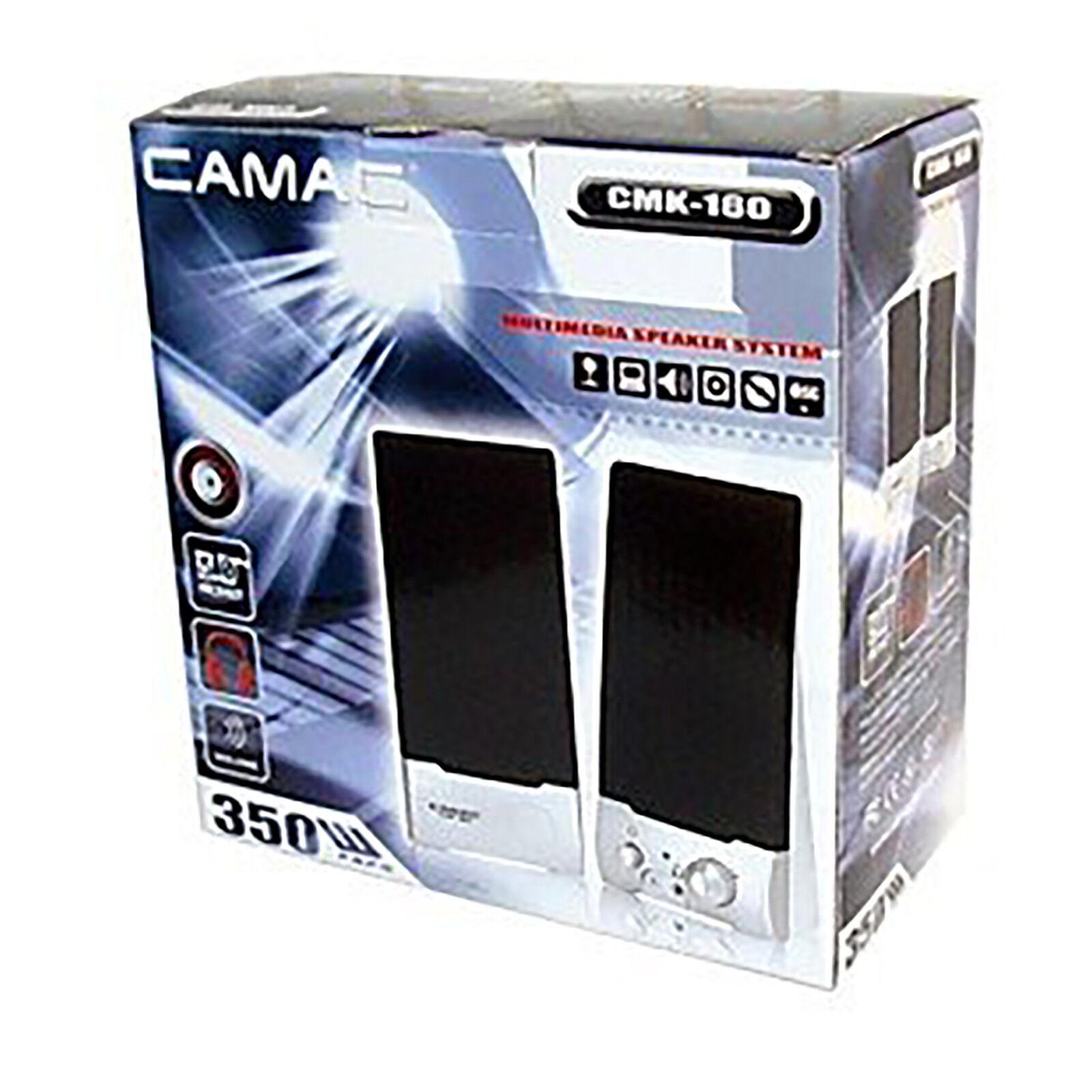 2x Altavoces Multimedia PC Ordenador Portatil DVD 350Watt Amplif 10W Jack 3.5 Mm - 16,95 €