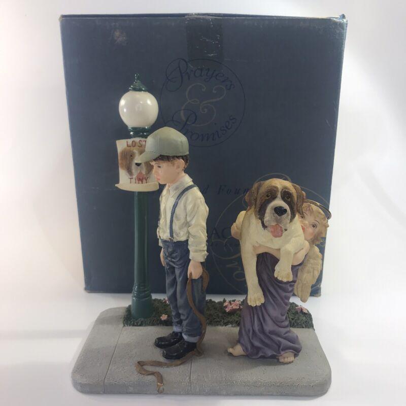 Saint Bernard Prayers & Promises Lost And Found figurine Demdaco '01 Bill Stross