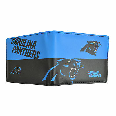 Carolina Panthers NFL Men's Printed Logo Leather Bi-Fold Wallet Carolina Panthers Leather