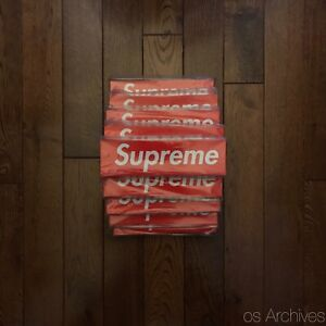 Supreme Red Box Logo Sticker — 1000+ Available — 100% Authentic