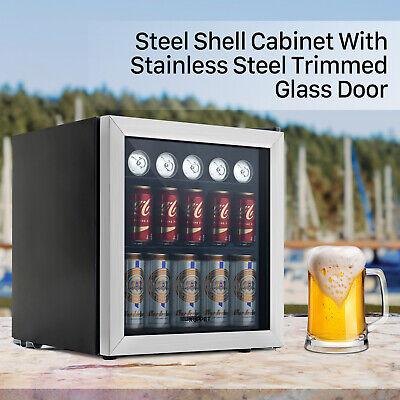 62 Can 1.6 Cu.ft. Beverage Cooler Refrigerator Mini Beer Fridge Glassdoor