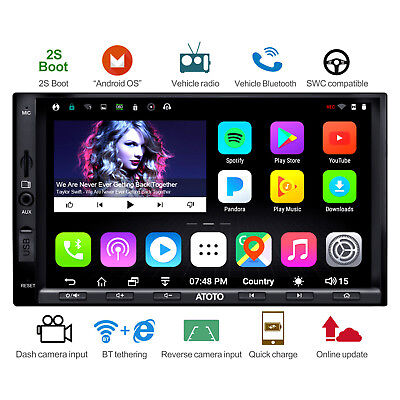 [NEW] ATOTO A6 2DIN Android Car GPS Stereo Radio /2A Charge/A6Y2721PB/Bluetooth