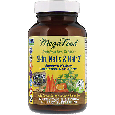 Nails 60 Tablets (MegaFood  Skin  Nails   Hair 2  60 Tablets )