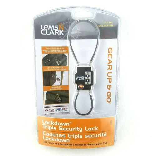 Lewis N Clark Travel Sentry Lockdown Triple Security Lock Luggage Suitcase TSA80