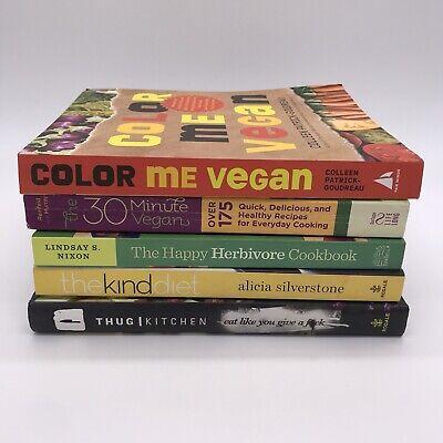 Lot Of Vegan Cookbooks THUG KITCHEN, THE KIND DIET, HAPPY HERBIVORE & More