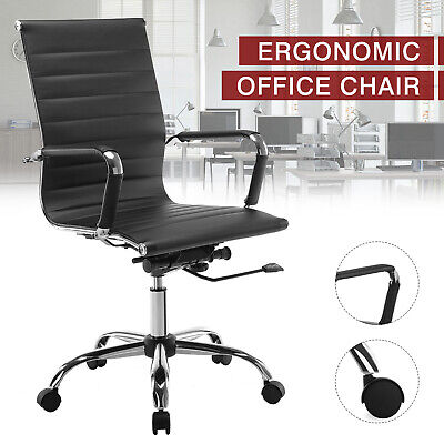 High Back Leather Office Chair Executive Task Ergonomic Computer Desk Seat